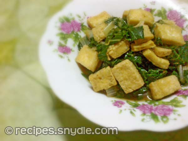 Sauteed Pechay and Tofu Recipe