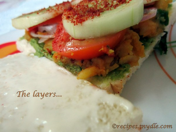 bombay style grilled sandwich recipe