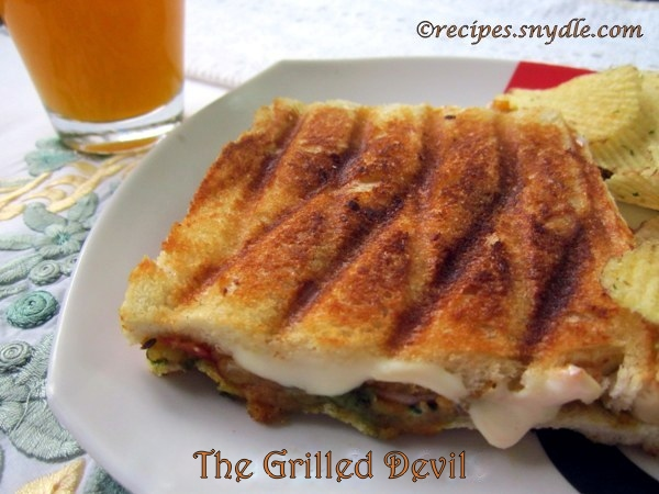 grilled cheese sandwich with vegetables recipe
