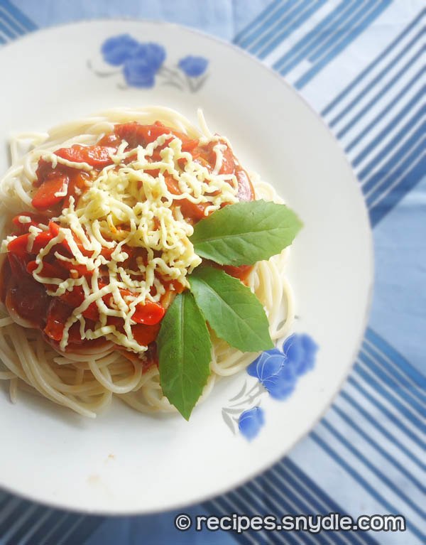 Spaghetti with Ground Beef and Hotdogs