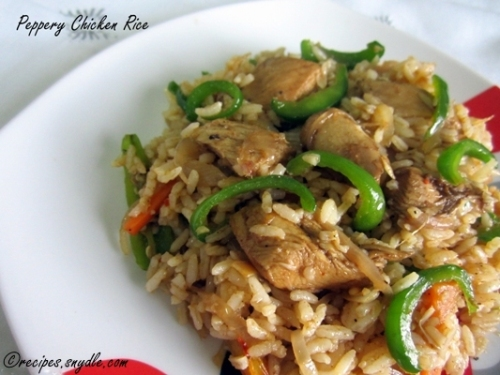 capsicum chicken rice