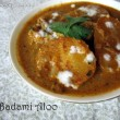 Badami Aloo Recipe / Potatoes in Almond Sauce Recipe