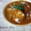 Badami Aloo Recipe / Potatoes in Almond Sauce Recipe