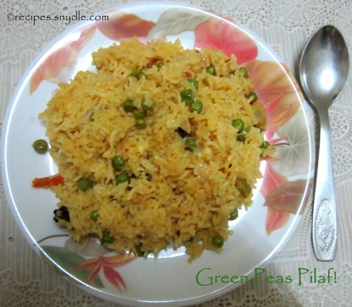 green peas pilaf recipe