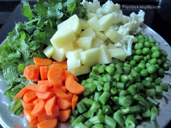 veg pulao ingredients