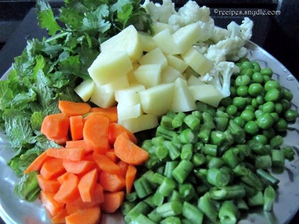 veg pulao ingredients