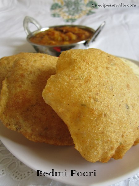 aloo sabzi and bedmi poori