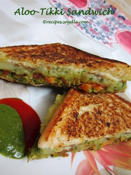 Aloo-Tikki Sandwich Recipe