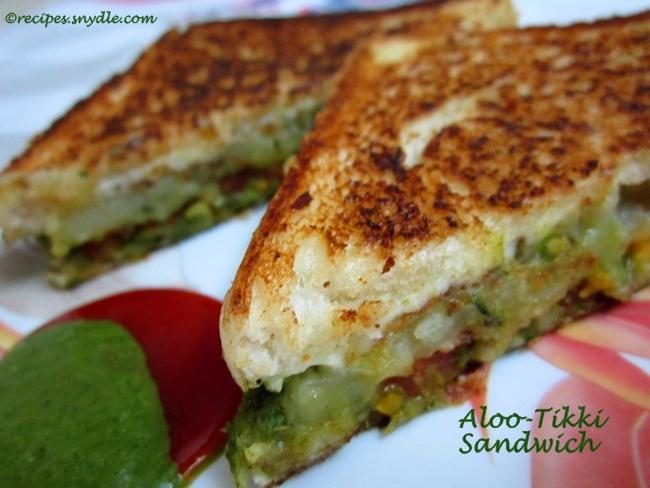 Aloo-Tikki Sandwich