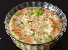 vegetable oats porridge