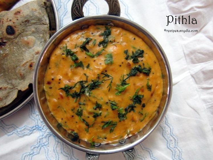 pithla bhakri