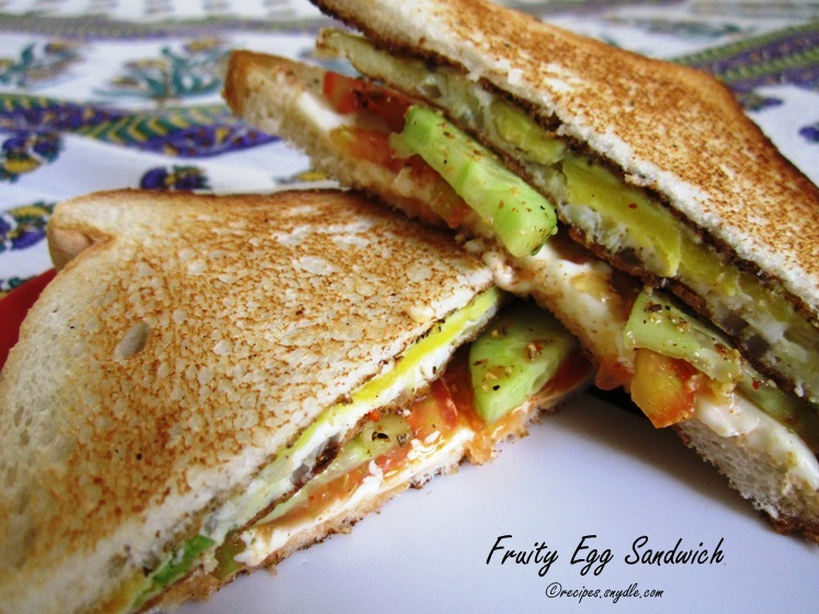 Fruity Egg Sandwich Recipe