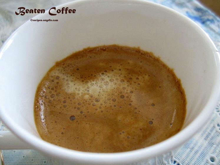 beaten coffee recipe
