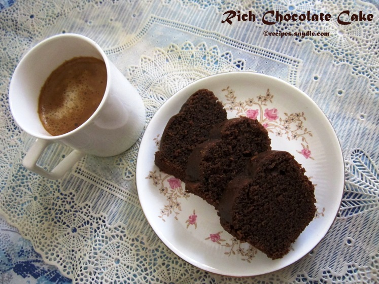 Rich Chocolate Cake Recipe