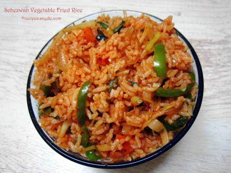Schezwan Vegetable Fried Rice Recipe