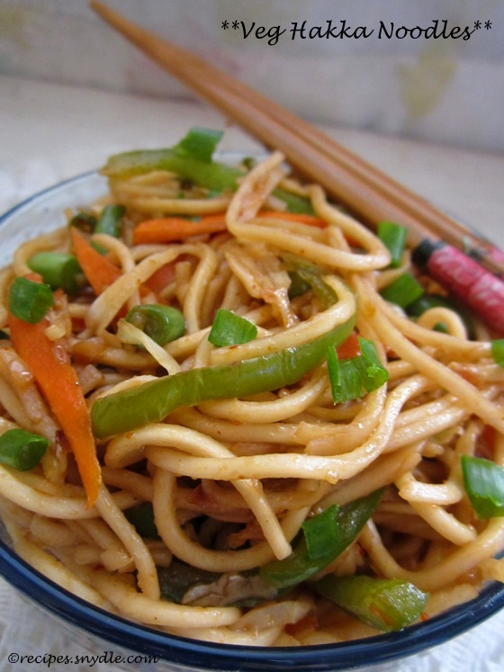 indo-chinese noodles recipe