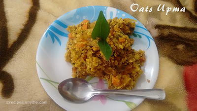 oats upma breakfast recipe