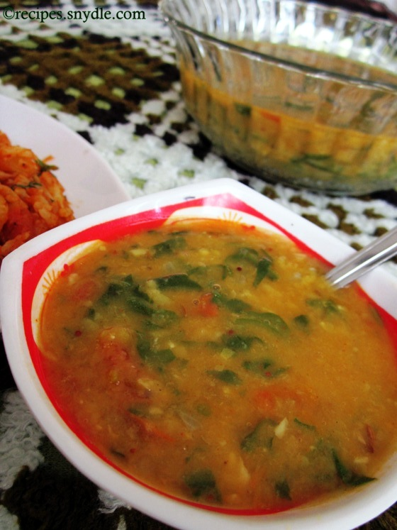 palak dal recipe