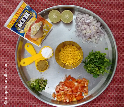 popcorn bhel Ingredients
