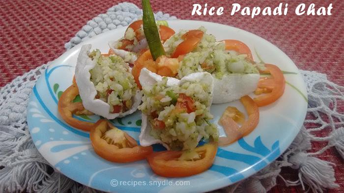rice papadi chat recipe