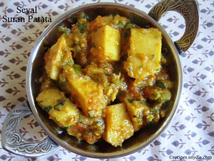 Seyal Suran Patata Recipe