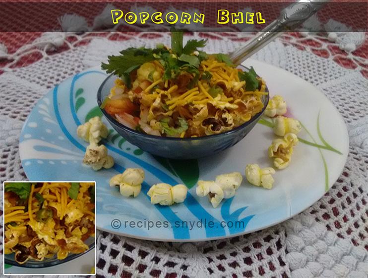 tasty popcorn bhel