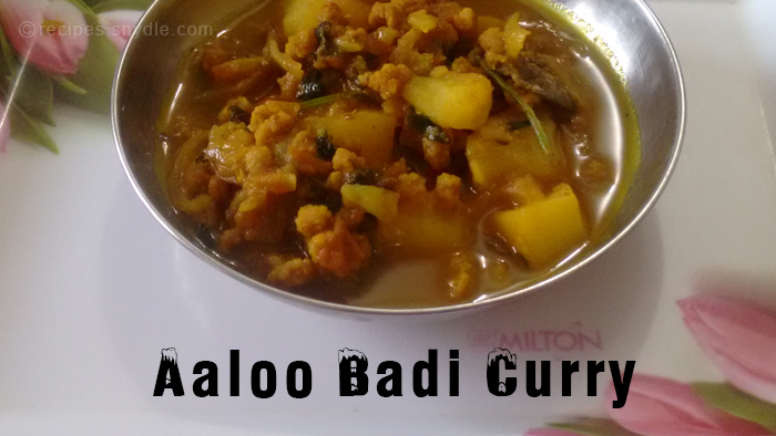 aaloo badi curry recipe