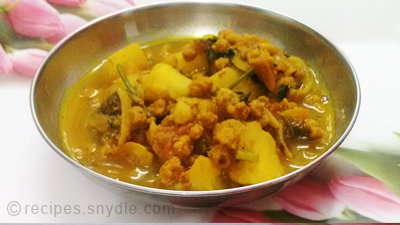 aaloo vadi curry recipe
