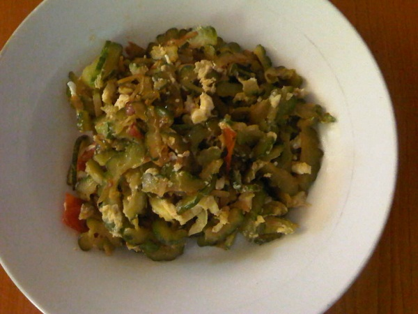 ginisang ampalaya with egg
