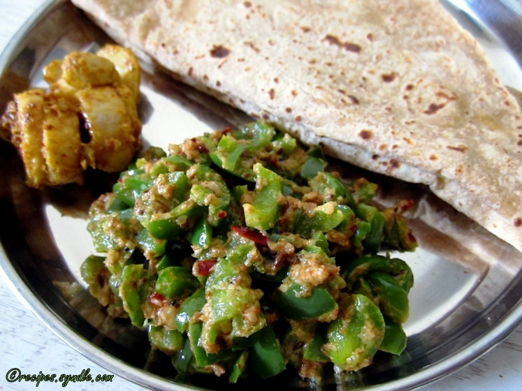 how to make capsicum masala