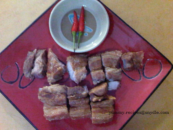 how to cook lechon kawali with mang tomas