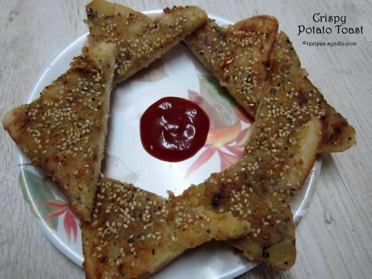 Crispy Potato Toast Recipe/Open-Faced Potato Sandwich Recipe