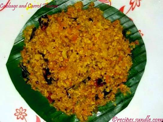 carrot and cabbage mixed thoran