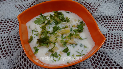curd pineapple raita