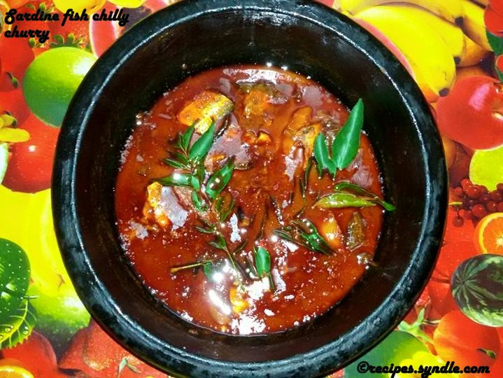 Sardine Fish  Chilly Curry( Mathi Mulakittathu)