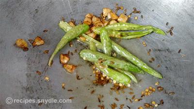 dry capsicum fry