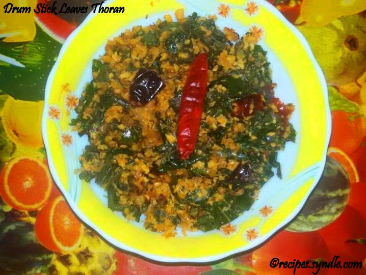 Drumstick Leaves Coconut Stir Fry/Muringayila Thoran Recipe