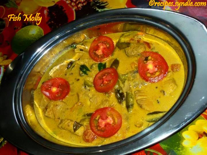 Kerala Fish Molly Recipe (Fish Cooked in Coconut Milk)