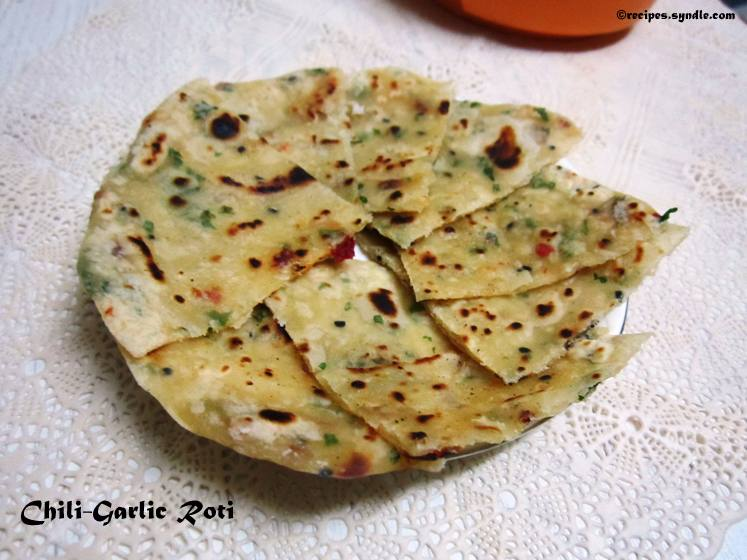 Manju'z Kitchen: Chili-Garlic Roti Recipe with Step-by-Step Pictures