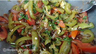 green capsicum sabaz