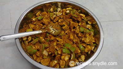 green mango pickle with spices