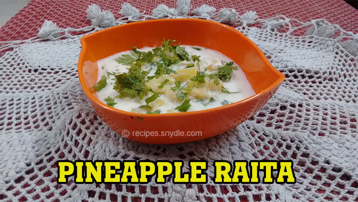 Pineapple Raita Recipe