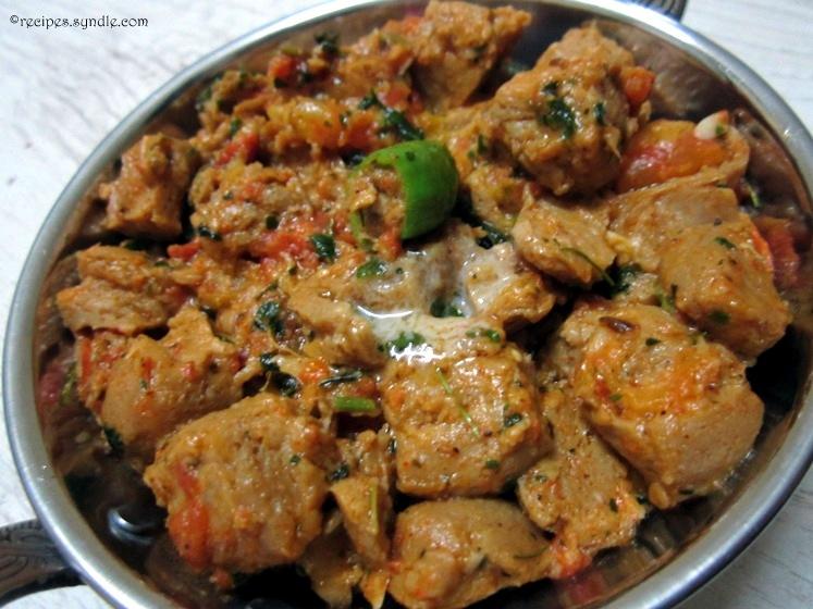 soya chunks in tomato gravy