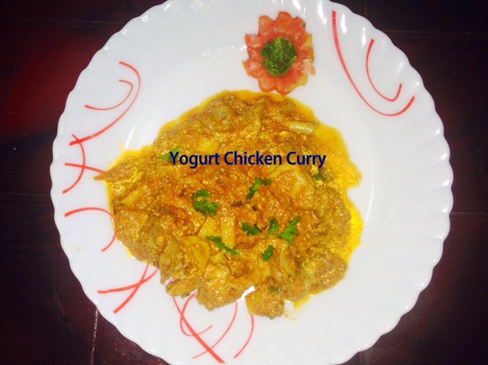 Yogurt Chicken Curry/Dahi Chicken Curry