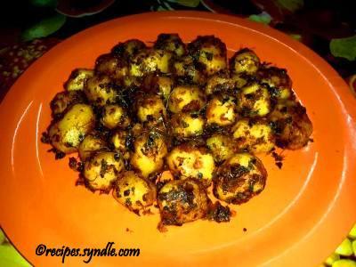 potato methi stir fry