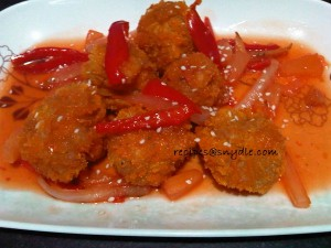 shrimp balls in sweet and sour sauce (4)