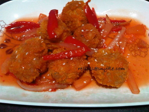 Shrimp Balls in Sweet and Sour Sauce
