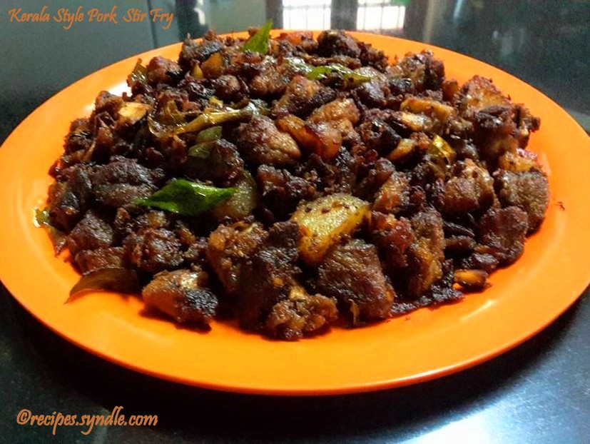 Kerala Pork Fry - Nadan Panni Erachi Ularthiyathu
