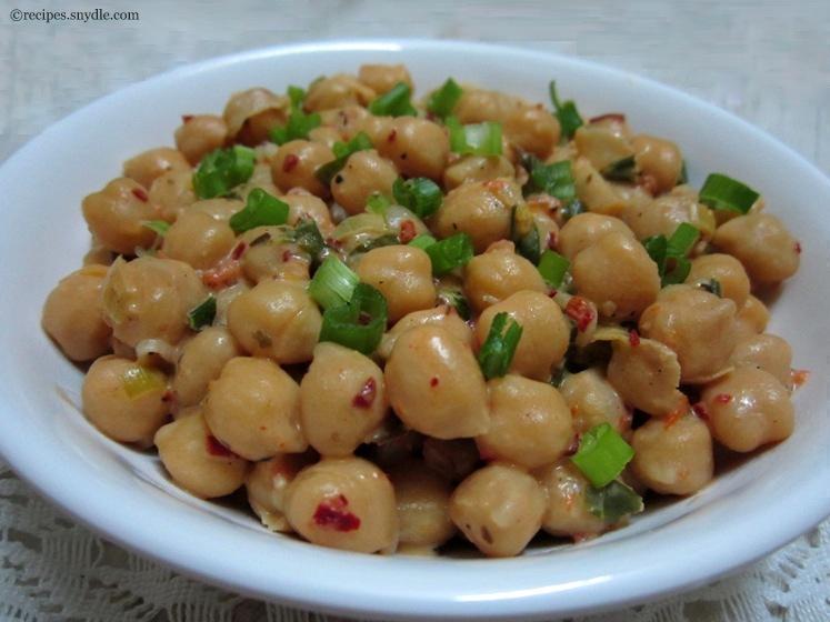Cheesy Herbed Chickpeas Recipe