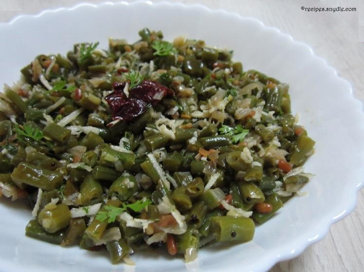 Beans Poriyal Recipe
